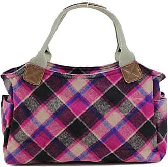Your Dezire Womens Designer Office Tweed Tote Bag Ladies Shoulder Handbag Work New Purple