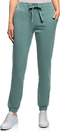 oodji Womens Jersey Active Pants, Green, XXS