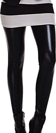 Hose Leggings Wet Look Lack Leder Kunstleder Optik Hoch Glanz Stoffhose Schwarz