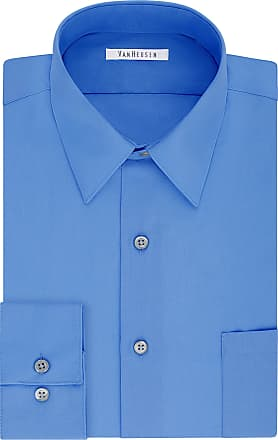 Van Heusen Mens Big Dress Shirt Tall Fit Poplin, Pacifico, 5XL (Neck 56 cm Sleeve 89/91 cm)