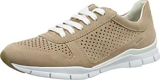Geox Women/'s D Sukie A Low-Top Sneakers 8 UK Beige Lt Grey C1010