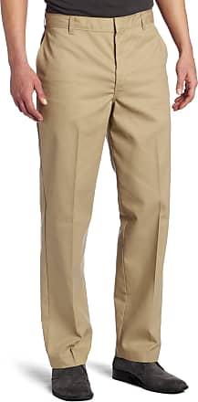 Dickies Mens Flat-Front Pant - Beige