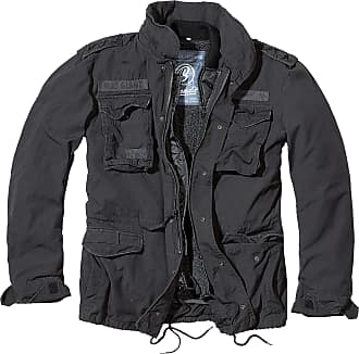 Brandit Giant M65 Field Jacket Military Coat With Removeable Liner Black Large