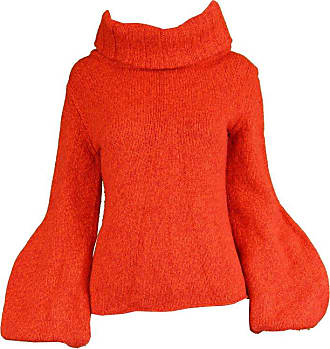cd9912ede5f6 Bergdorf Goodman Mila Schon Vintage Red Wool & Cashmere Balloon Sleeve Roll  Neck Sweater, 1980s