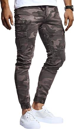 LEIF NELSON Mens Cargo Pants Chino Chino LN-9325 Black W29/L30