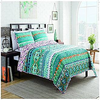 Ellery Homestyles Vue Happy Baby Quilt Set, King, Blue
