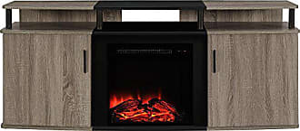 Dorel Home Products Ameriwood Home Carson Electric Fireplace TV Console for TVs up to 70, Weathered Oak