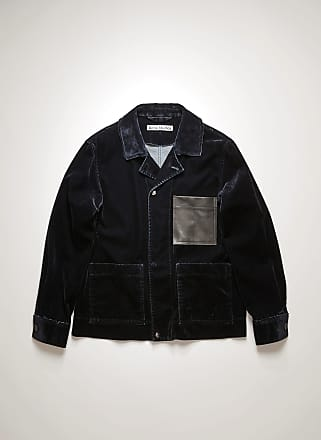 Acne Studios FN-MN-OUTW000430 Navy Flocked denim chore jacket