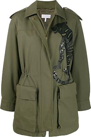 Escada Sport embellished tiger coat - Verde