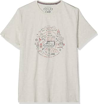 Joules Mens Flynn T-Shirt, Off-White (Cream Marl Crmmrl), Small (Size:S)