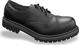 80c0ae13222e95 Mil-Tec Invader 3 Loch Stiefel Boots Schwarz Stahlkappe Leder Schuhe Ranger