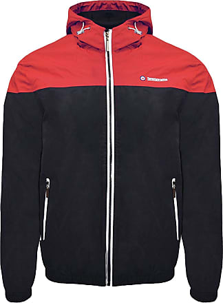 Lambretta Mens Colour Block Hooded Jacket Sports, Blue (Navy/Red Navy/Red), X-Large (Size:XL)
