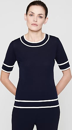 Escada Virgin Wool Short-Sleeve Sweater