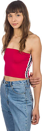 Zine Cage Tank Top red tube with blue taping