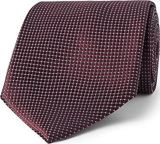 Ermenegildo Zegna 8cm Textured-silk Tie - Burgundy