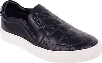 9607879f14e Versace Collection Black Mens Star Engraved Slip On Sneakers