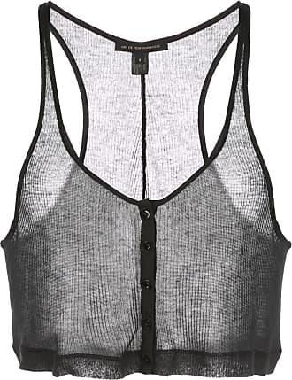 Kiki De Montparnasse Ribbed Intime cropped top - Black