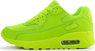 LanFengeu Men Trainers Solid Color Casual Low Top Breathable Mesh Sneakers Summer Outdoor Shock Absorbing Couple Light Running Shoes Green
