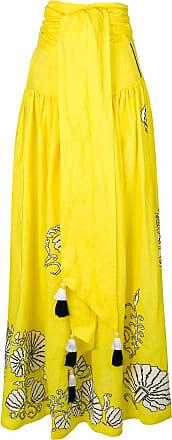 Yuliya Magdych tassel maxi skirt - Yellow