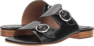 Bernardo Womens TOBI Flat Sandal, Black Glove Leather, 6.5M M US