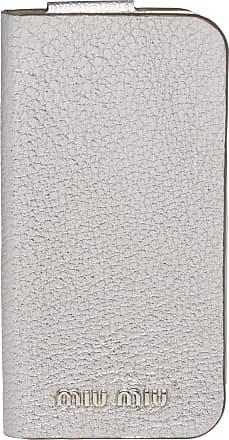 Miu Miu Capa Madras para iPhone 8 - Prateado