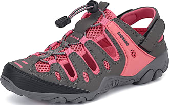 Saguaro Summer Womens Outdoor Sandals Closed Toe Hiking Sandals Breathable Non-Slip Sports Sandals Trekking Walking Casual Trail Beach Sandals, 075 Pink, 5.5