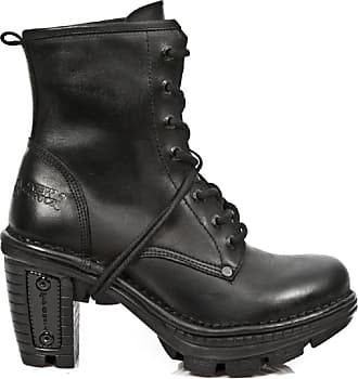 New Rock NewRock New Rock NEOTR008-S18 Vintage Black Goth Rock Punk Ladies Leather Boots 4