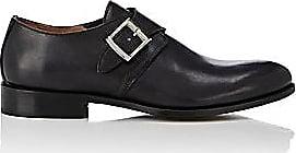 Barneys New York Mens Burnished Leather Monk-Strap Shoes - Black Size 13 M