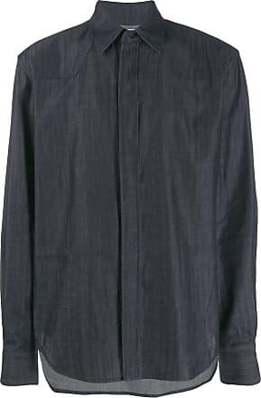 Zilver Camisa com fechamento oculto - Azul