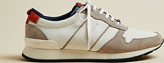 Ted Baker Textile And Suede Trainers in White LHENSTR, Mens Accessories