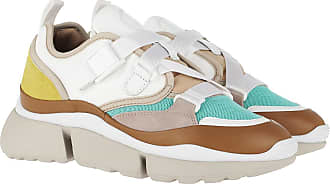 Chloé Sneakers - Sonnie Low Top Sneakers Suede Calfskin Mix Natural White - white - Sneakers for ladies