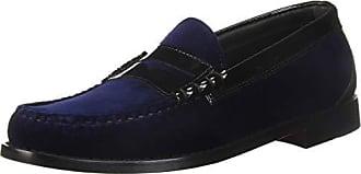 G.H. Bass & Co. Mens Larson Loafer, Navy Velvet, 9.5 D US