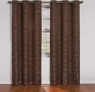 Eclipse 11250042X084CH Meridian 42-Inch By 84-Inch Blackout Single Window Curtain Panel, Chocolate