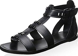 Aerin Womens Eliza Sandal, Black, 6 M US