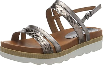 Marco Tozzi Womens 2-2-28419-24 Ankle Strap Sandals, Silver (Pewter Comb 906), 3.5 UK