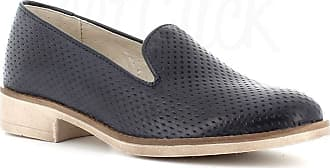 Generico Made in Italy Moccasin in Leather - Blue Blue Size: 6 UK