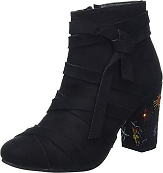 Browns Noir Bottines Boots Embroidered Femme EU Joe Black A Creative 42 FYTxadd