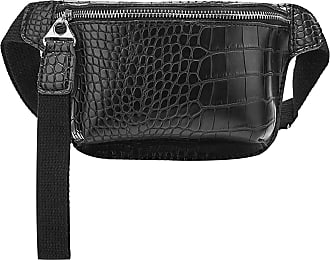 NA Waist Bag for Women chest bag pu Leather Fanny Pack Phone Pouch Chest Packs Ladies Wide Strap Belt Bag Female Crossbody ba,Red-Black