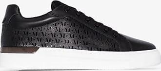 Mallet Footwear Mens Black Grafter Leather Sneakers