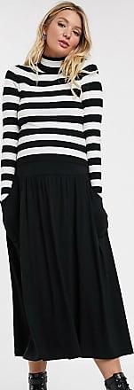 Asos Maternity ASOS DESIGN Maternity midi skirt with pockets in black