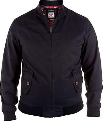 Duke London Duke Mens Windsor Cotton Harrington Jacket - Black - 1XLT