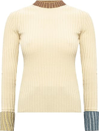 Lanvin Lurex Sweater Womens Beige