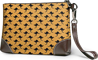 GLGFashion Womens Leather Wristlet Clutch Wallet Kangaroo Storage Purse With Strap Zipper Pouch