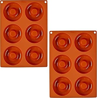 Wilton Non-stick 6-Cavity Silicone Donut Baking Pan Set, 2-Count