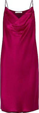 Halston Heritage Halston Heritage Woman Draped Satin-crepe Mini Dress Magenta Size XL