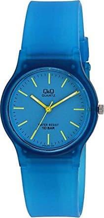 Q&Q Relógio Infantil Masculino Azul Transparente Q&Q Prova DÁgua