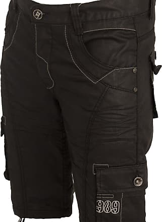 Enzo Jeans New Mens Shorts EZS257 Combat Cargo Style in Black Colour 28 to 46 (W46)