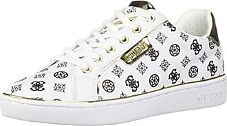 Guess Womens BANQ Shoe, White, 6 M US