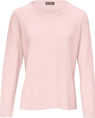 include Round neck jumper in pure new wool and cashmere include pale pink
