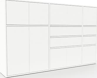 MYCS Buffet - Blanc, moderne, avec porte Blanc et tiroir Blanc - 190 x 118 x 35 cm